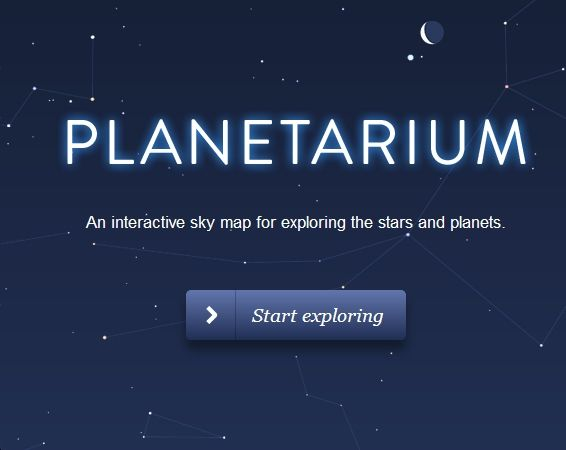 Planetarium An Interactive Sky Map For Exploring The Stars And - Interactive sky map