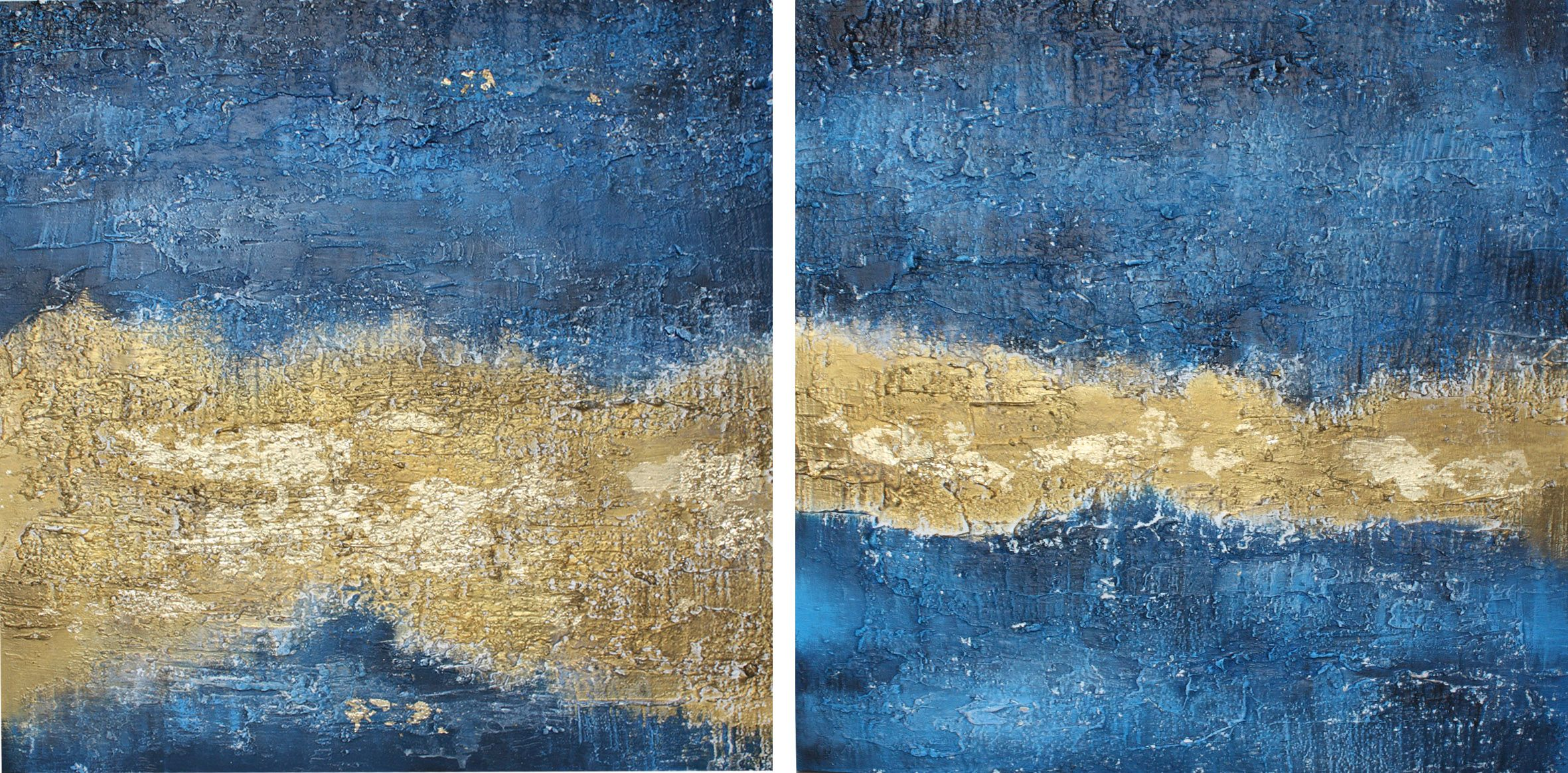 Abstract art - Blu serie. Stucco and acrylic on table wood with gold leaf. #painting #abstract #arte #art, #decor #home #interior #design #arredo, #arteastratta #materico