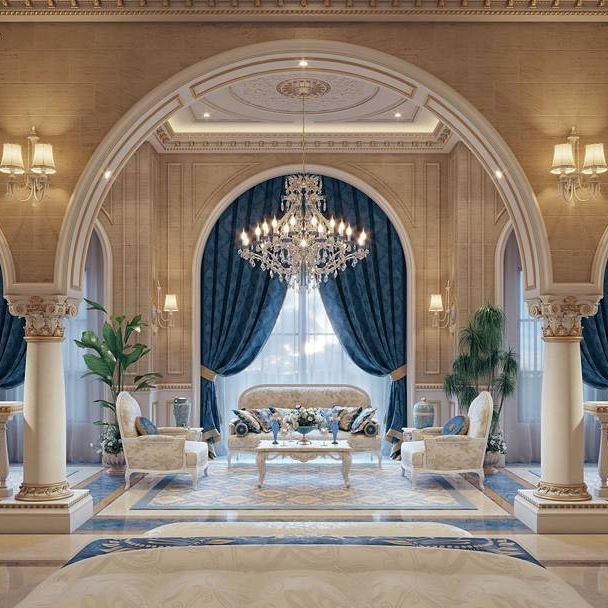 """Luxury Mansion Interior """"Qatar"""" By Taher Design Studio"""