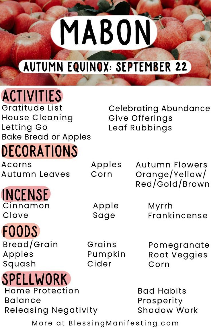Mabon Correspondences: Celebrating the Autumn Equinox #maboncelebration