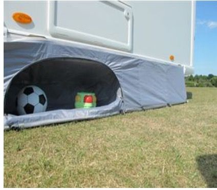 Need More Storage Space In Your Awning Caravan Awnings Motorhome Travels Skirts With Pockets