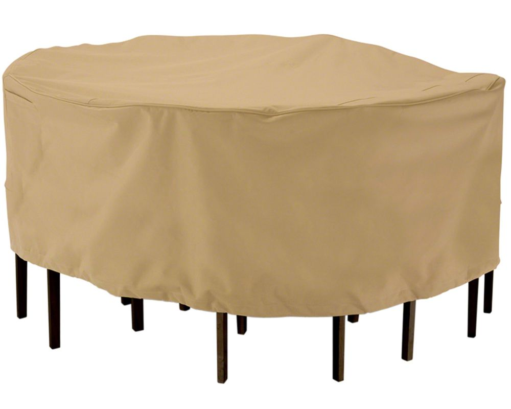 outdoor small furniture cover for a round table and chairs kot