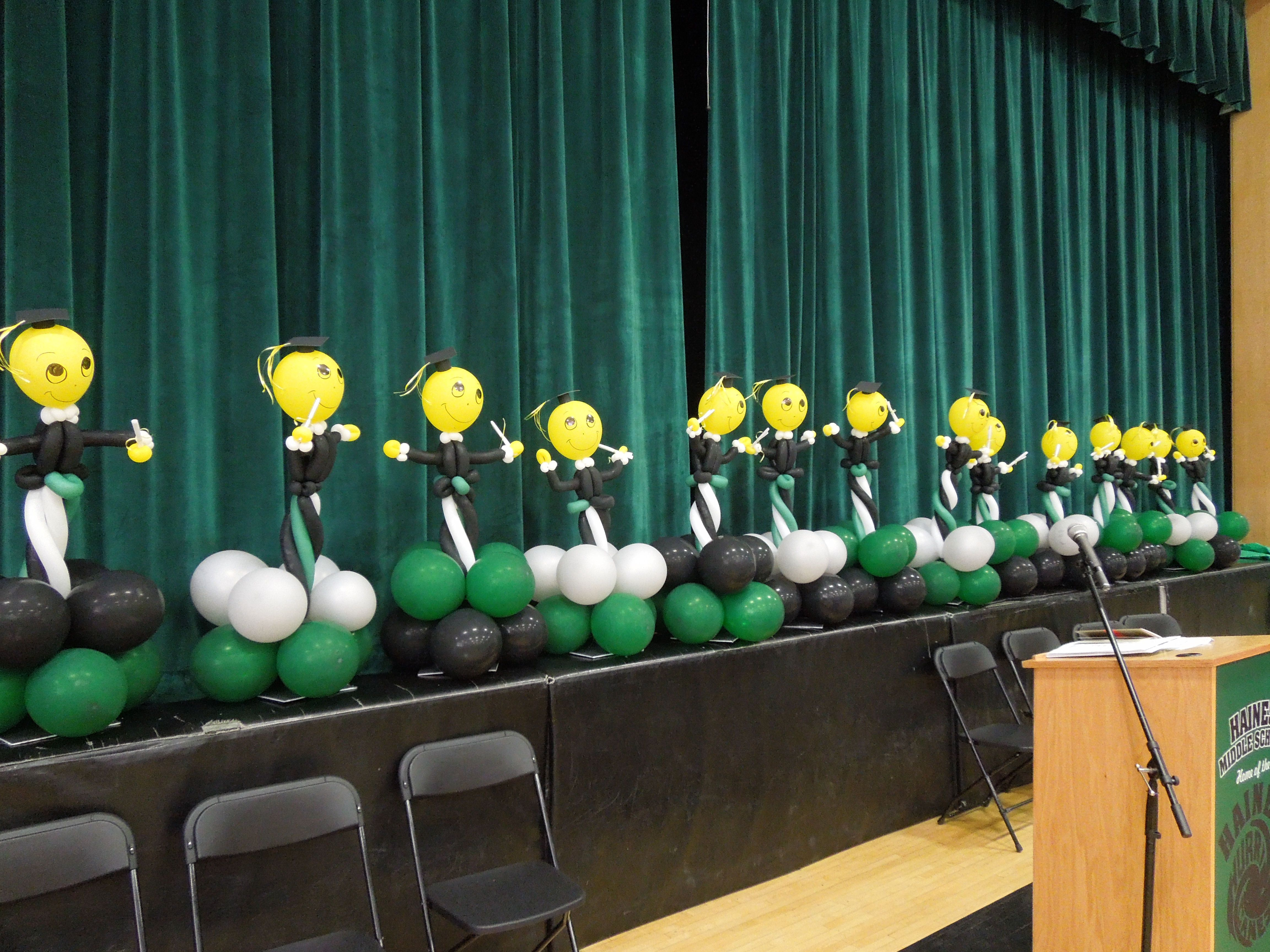 Th grade graduation balloon centerpieces cute smileys