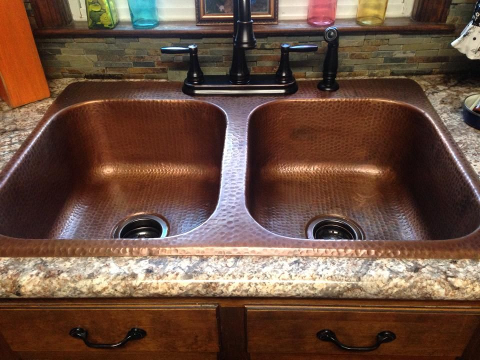 Raphael drop in copper sinks for the kitchen by sinkology - Copper drop in kitchen sink ...