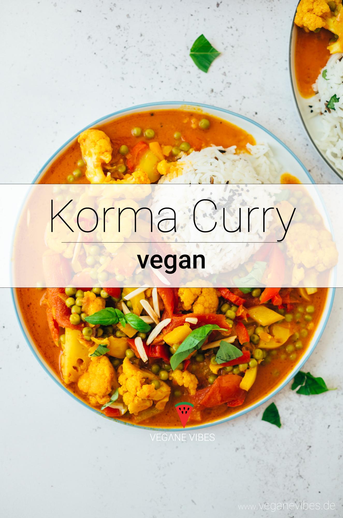 cremiges Korma Curry mit Blumenkohl und Erbsen #gezondeten