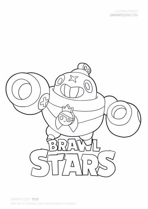 Brawl Stars Coloring Pages Tick Star Coloring Pages Coloring Pages Brawl