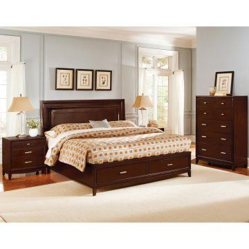 Henley Storage Bed Set  Storage Beds At Hayneedle  Interiors Gorgeous Bedroom Sets With Storage Inspiration