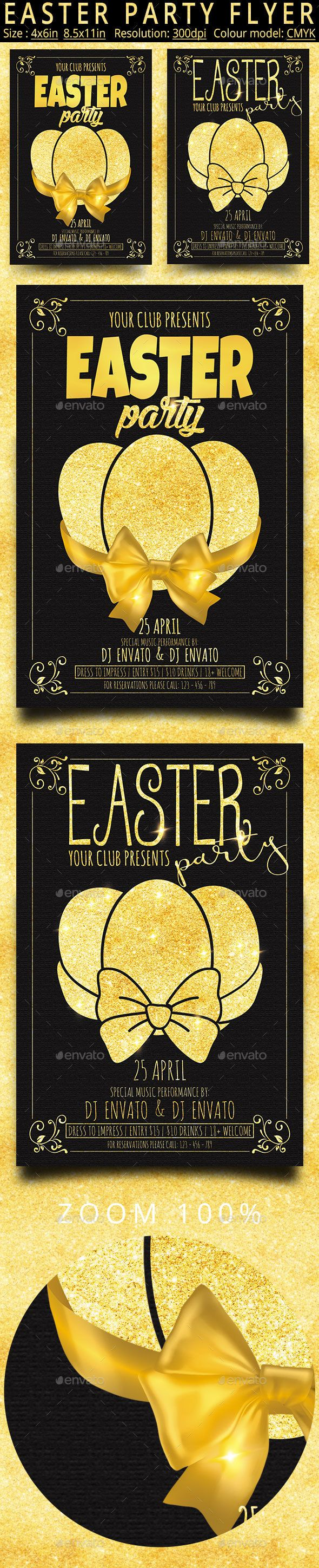 Happy Easter Party Flyer - Holidays Events