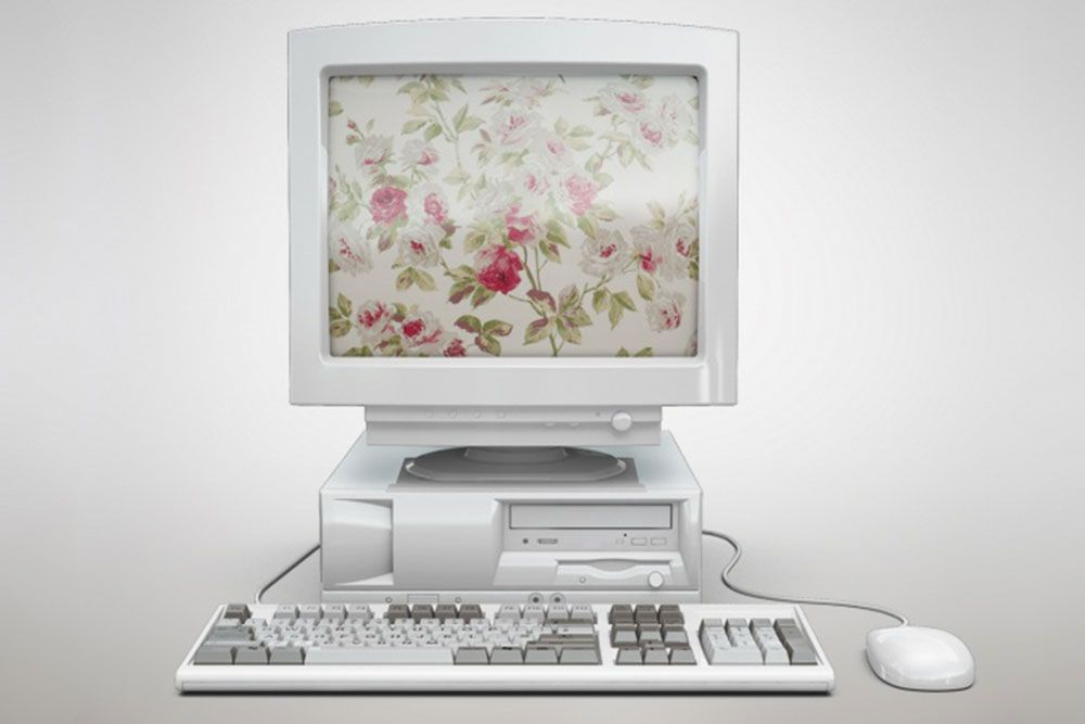 Free Customizable Old Computer Mockup In Psd Mockups Pinterest