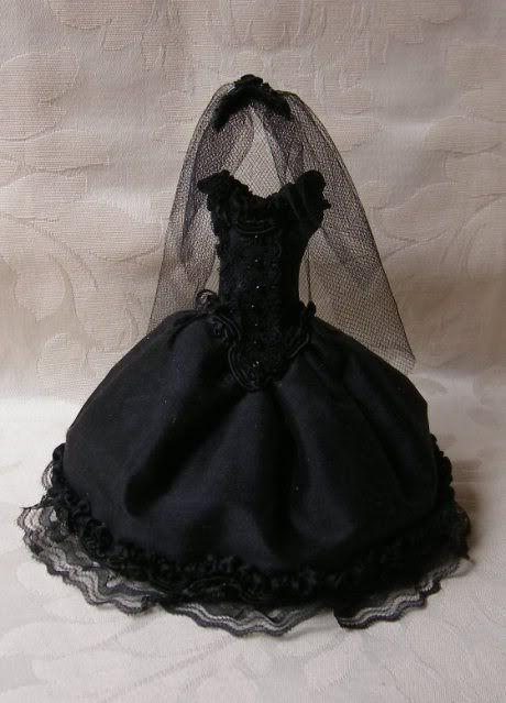 Black Wedding Veil Http Missameliasminiatures Com