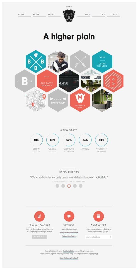 Web Design Inspiration Flat Web Design
