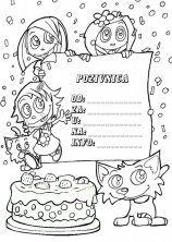 dječje pjesme za rođendan Pozivnice za rođendan za printanje i bojanje   Iznenađenje za  dječje pjesme za rođendan