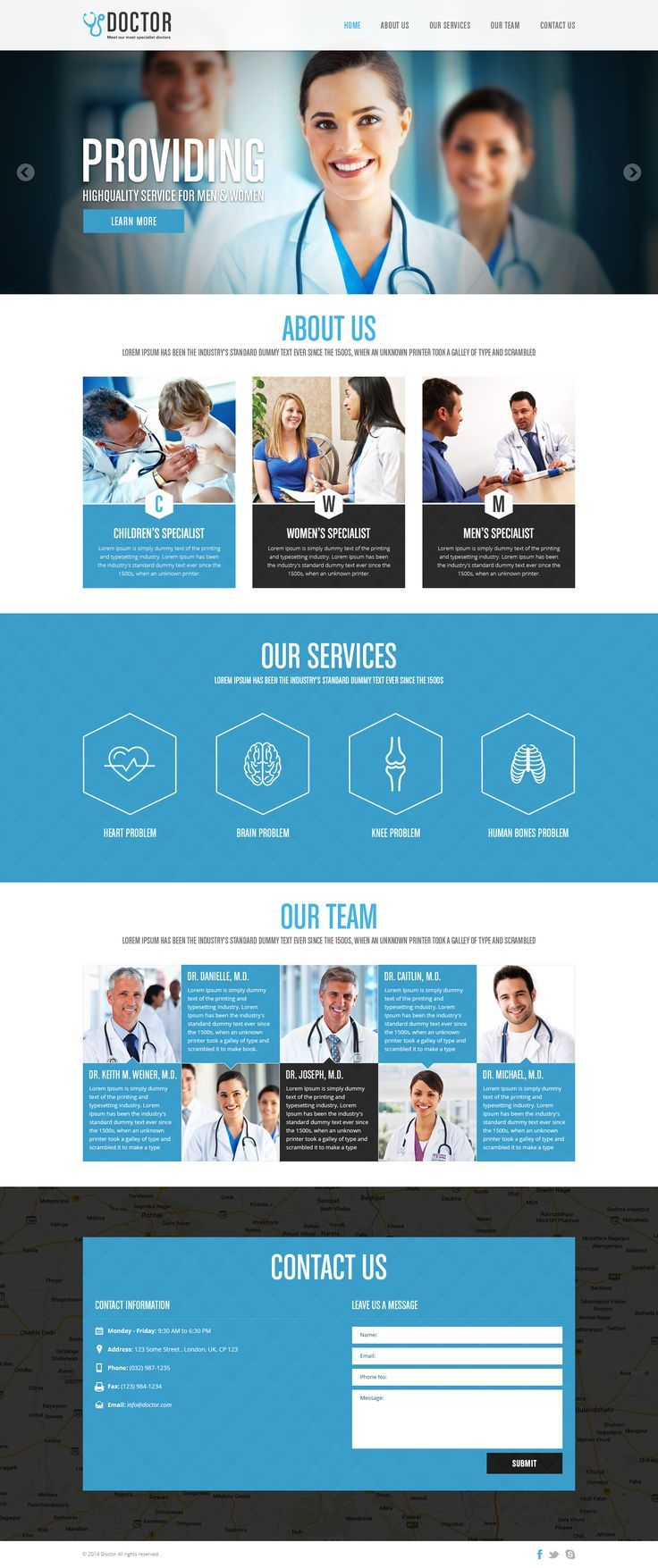 A very simple free PSD template for medical industry