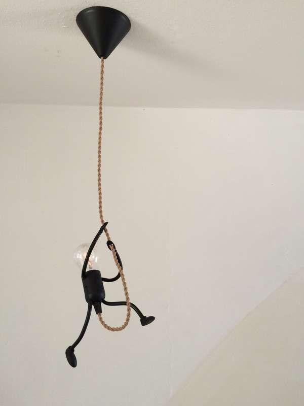 Lamp Lampje Uniek En Sfeervol Handgemaakt Design Klimlampje Solo Industrieel Decoreren Huis Ideeen Decoratie Handgemaakt