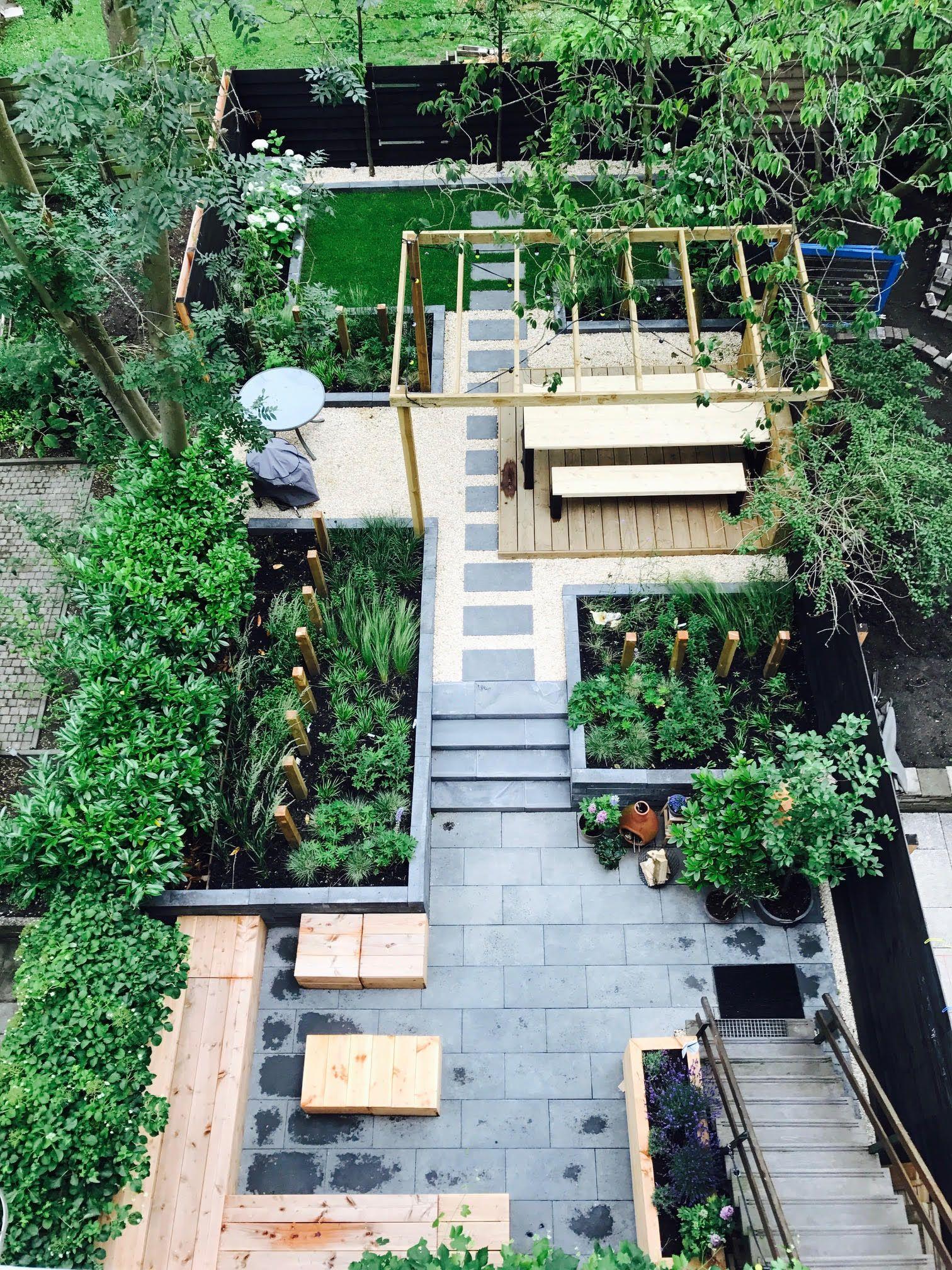 Garden Design Tuinontwerp Siergras Lounge Tuin Zwarte Schutting
