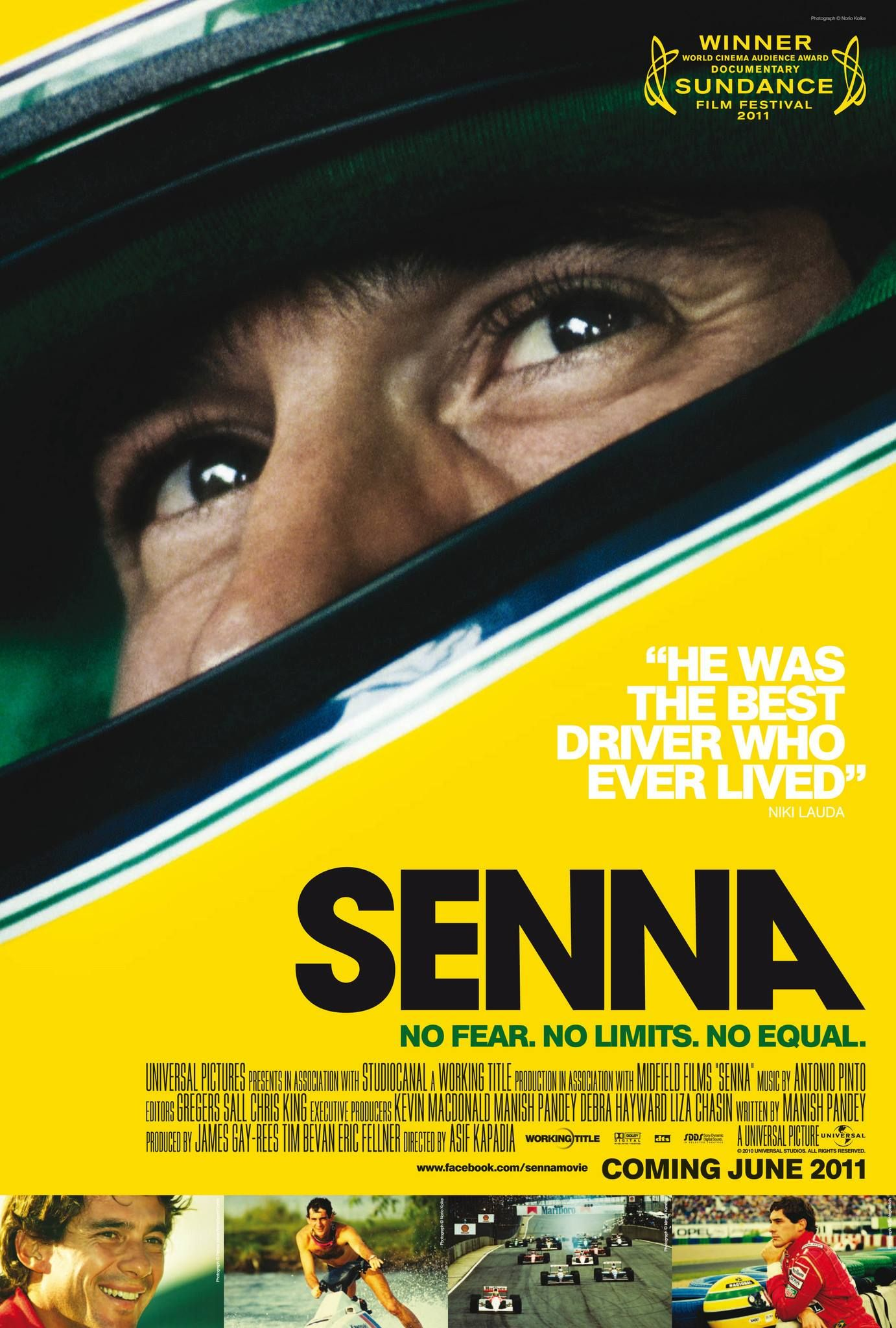 Senna Film Poster, Designed By Creative Partnership The Documentary About