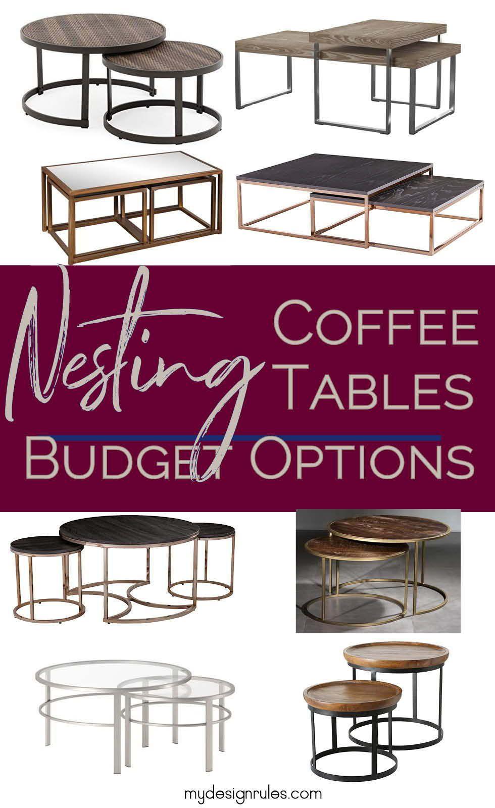 Budget Friendly Nesting Coffee Tables Nesting Coffee Tables Coffee Table Painted Coffee Tables [ 1600 x 980 Pixel ]