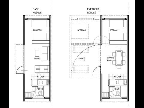Shipping Container House Technical Plans   Download | Cargo Home DWG PDF.