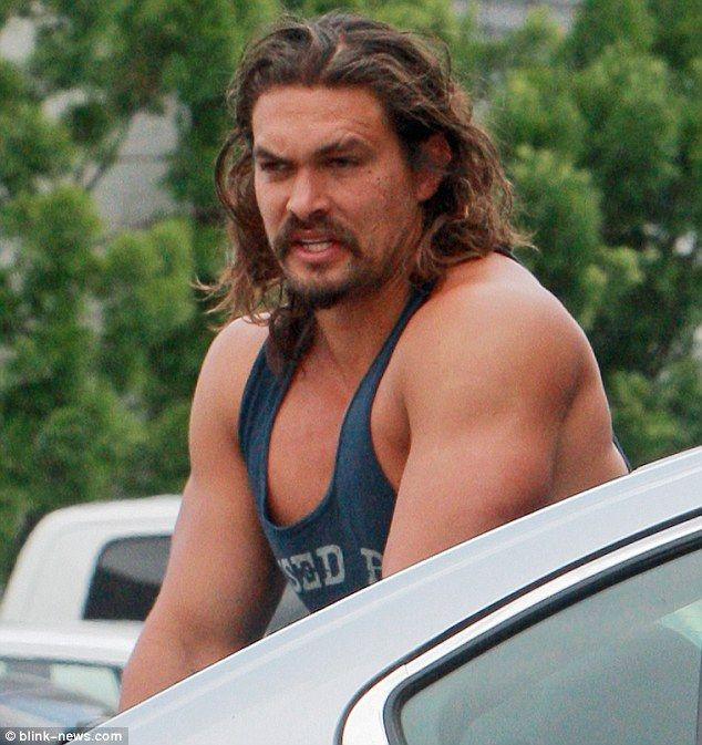 Jason Momoa Flexes Bulging Biceps On Grocery Run With Wife