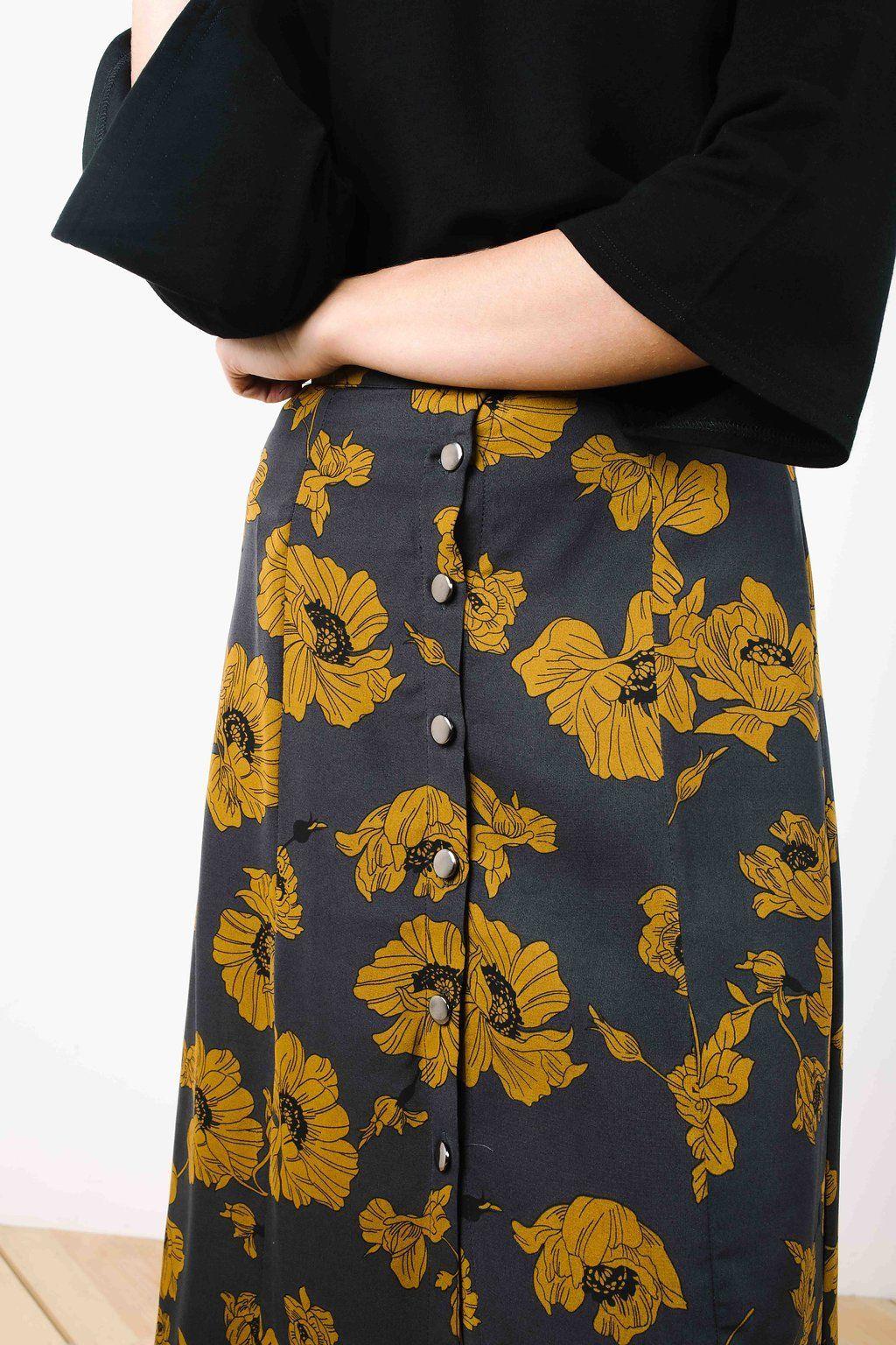 e897c913eb The Jenny Charcoal Midi Skirt in 2019 | My Style | Skirts, Midi ...