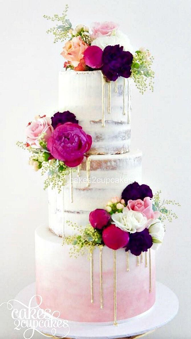 White Drip Cake Figs