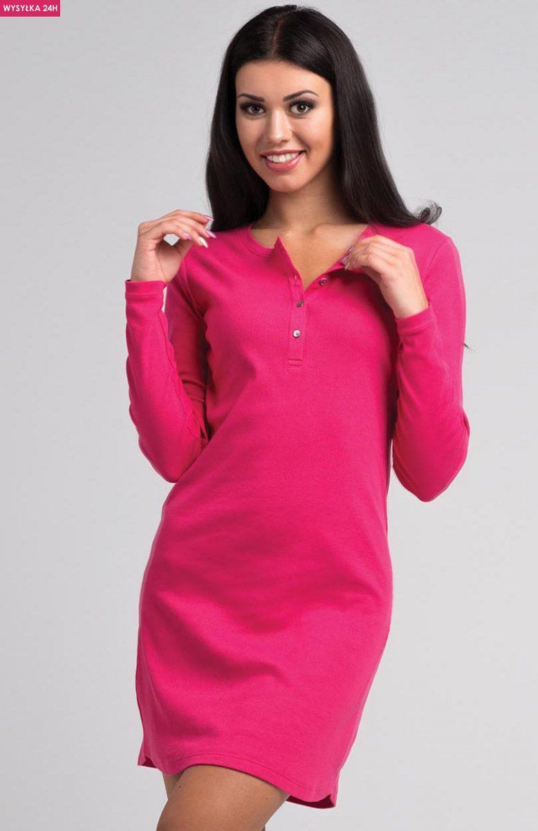 d2bdacf91370a1 Rossli SAL-ND 2002 koszula nocna Komfortowa koszula damska, klasyczny krój,  z przodu rozpinana na guziki