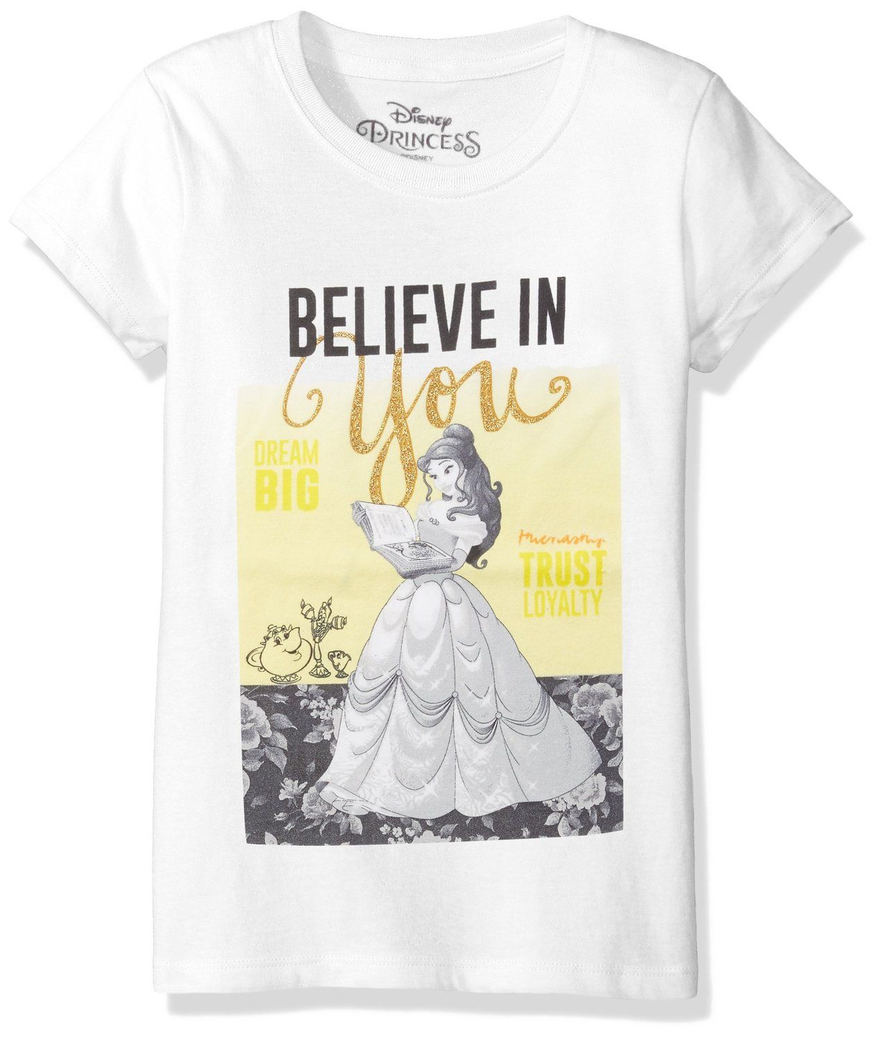 e78e1df76 Amazon.com: Disney Girls' Beauty and the Beast Belle T-Shirt: Clothing