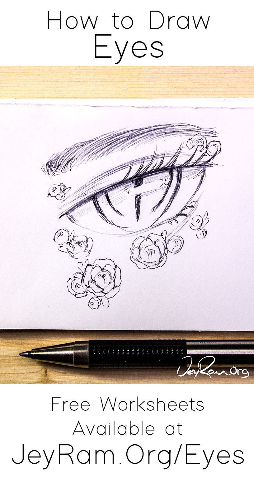 How to draw eyes step by step tutorial for beginners pdf