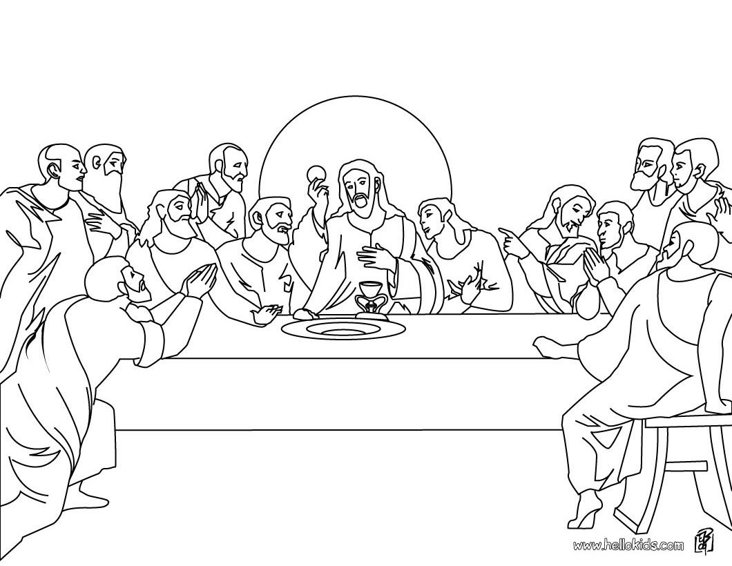 Printable coloring pages last supper - Craft