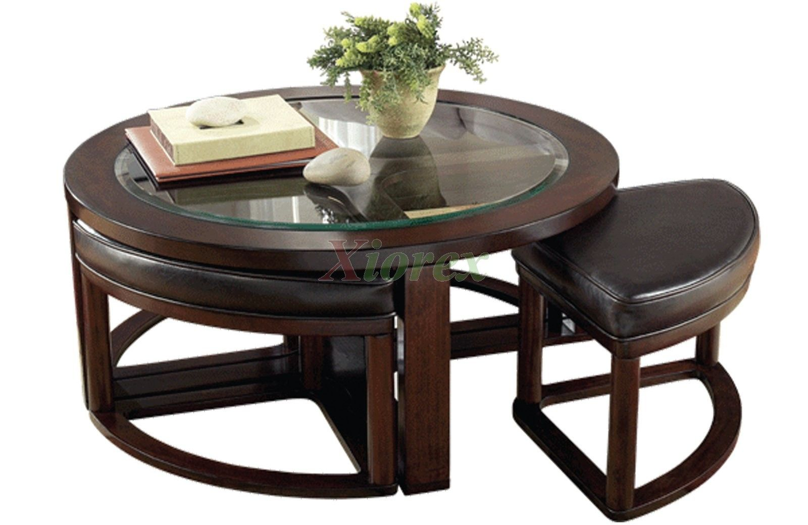 20 Round Coffee Table with Stools Underneath Furniture for Home