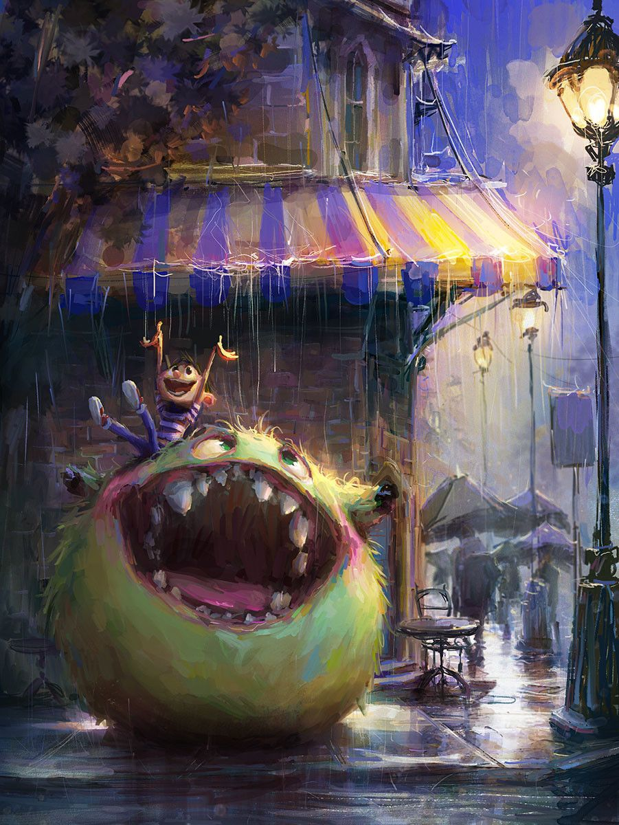 Another Rainy Day, Marco Bucci on ArtStation at…   Illustration ...