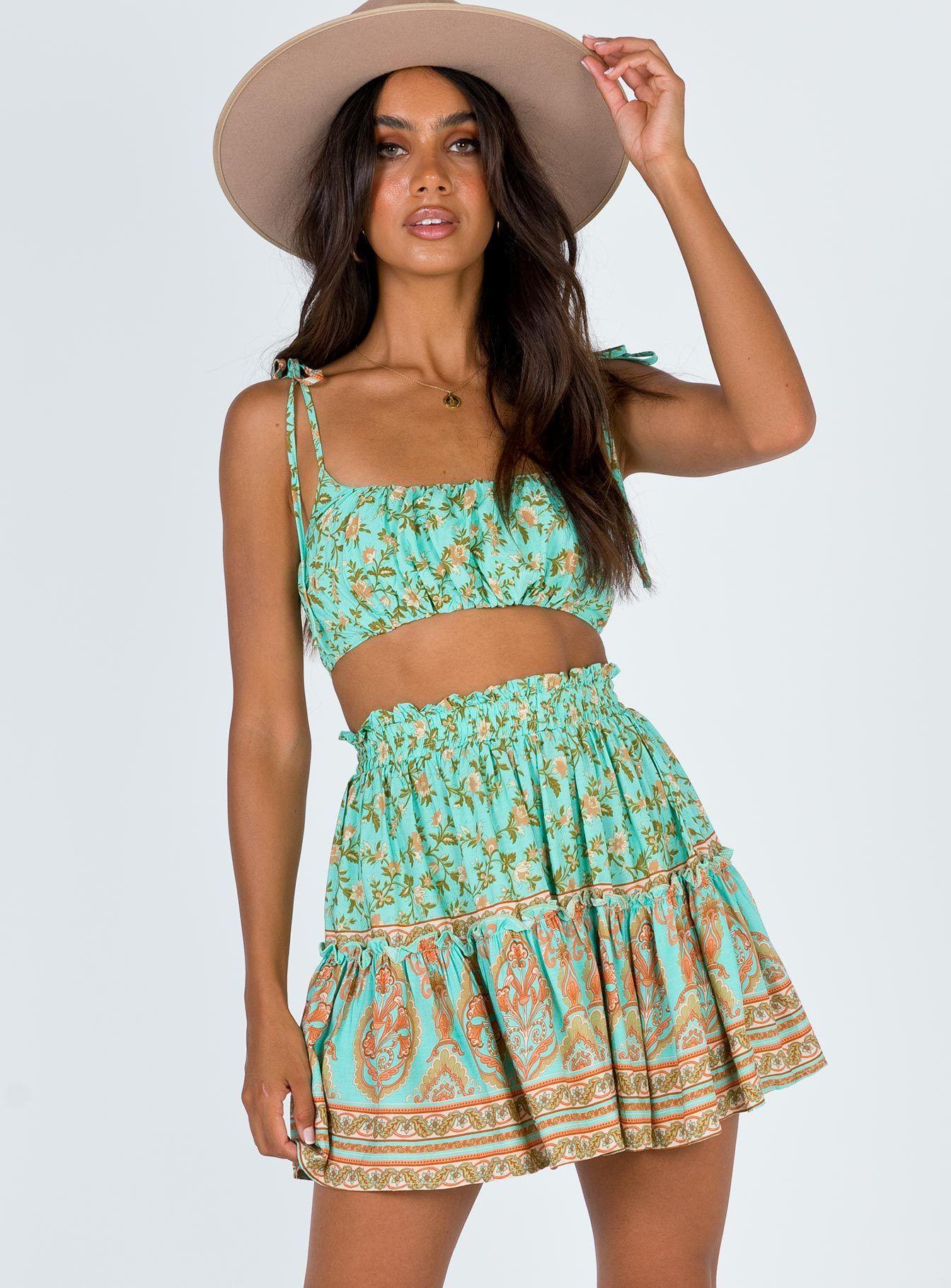 The Afia Set   Mini skirts, Princess polly, Skirt top