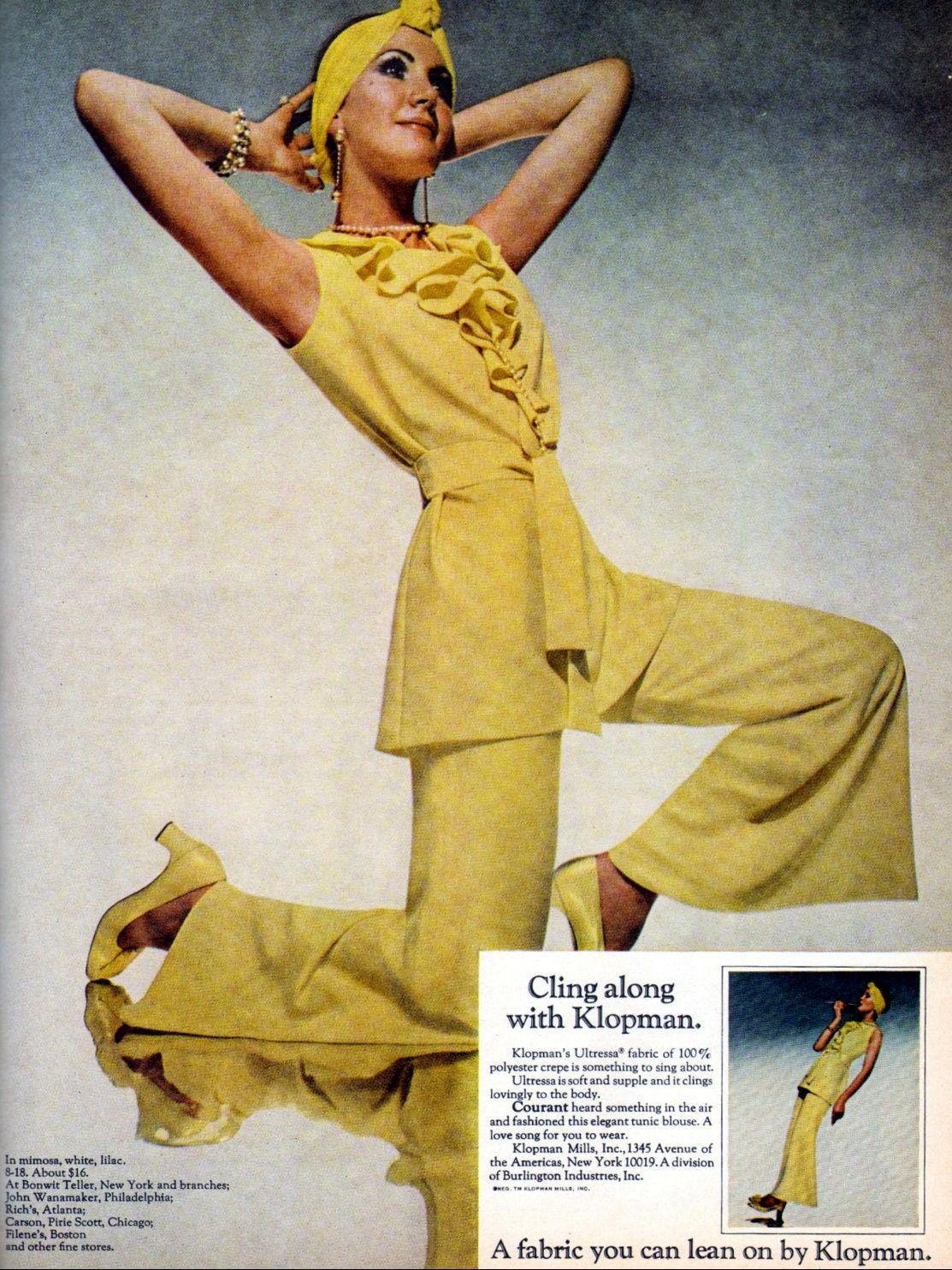 Klopman 1969 retro outfits fashion 70s fashion