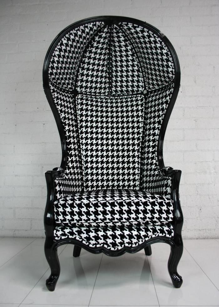 Houndstooth Balloon Chair Eclectic Chairs Chair