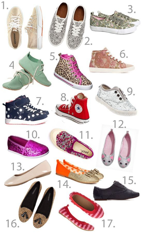 great list for shoes for tween girls