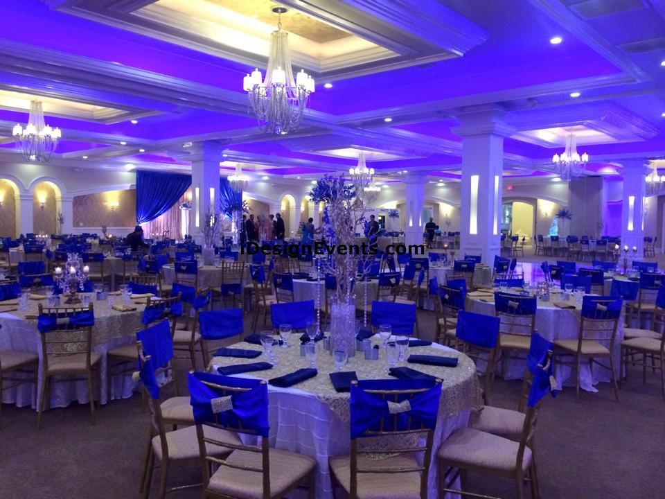 Gold Weddings Blue And Royal Wedding Reception Golden Anniversary Marriage Venues