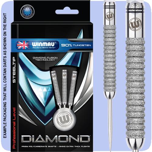 Winmau Diamond Darts - Steel Tip Tungsten - Diamond Fusion 3 - Straight - 24g - http://www.dartscorner.co.uk/product_info.php?cPath=9_183_1933&products_id=13078