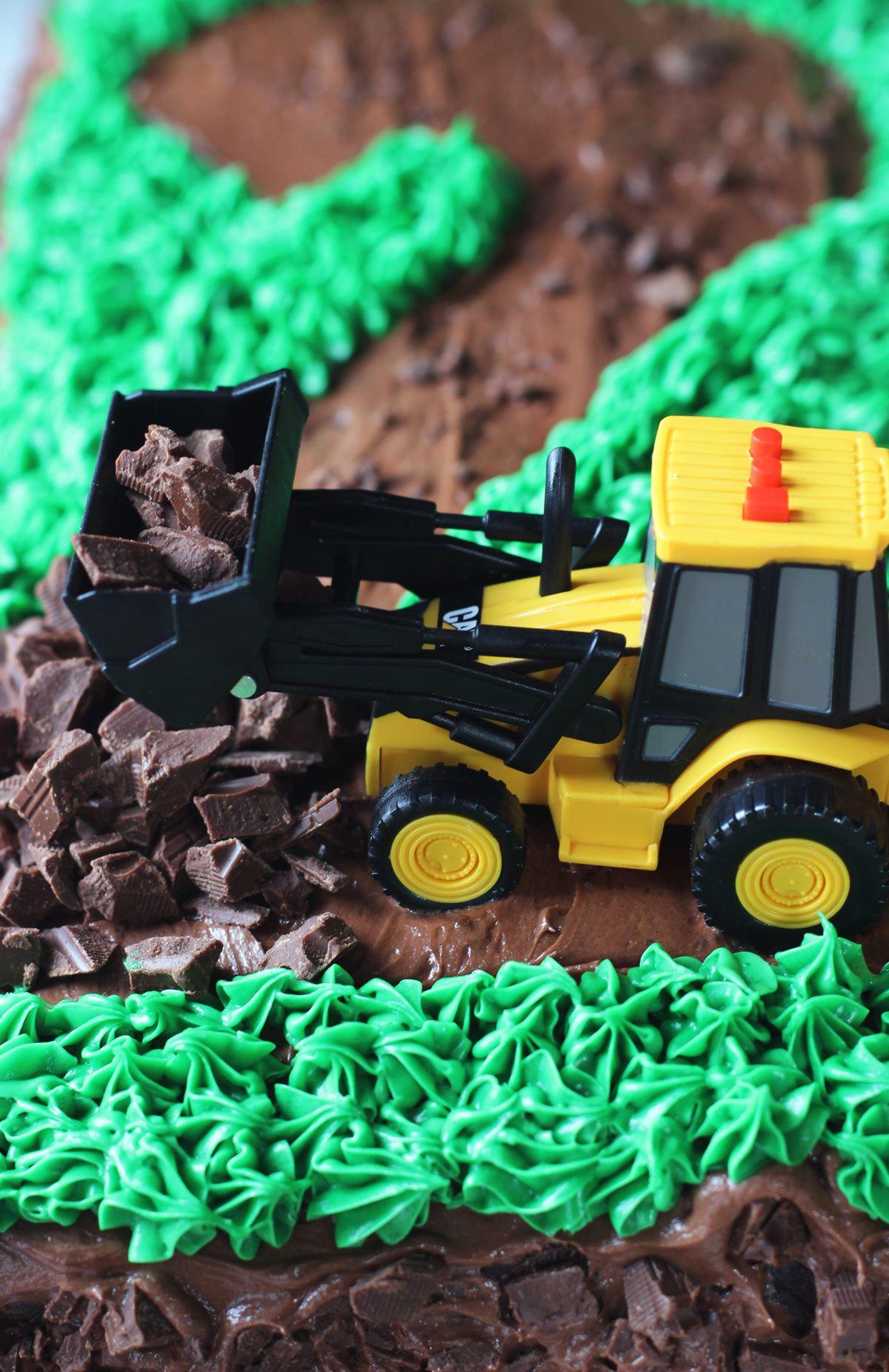 Road Construction Tractor Birthday Cake | Recipe | Tractor ...