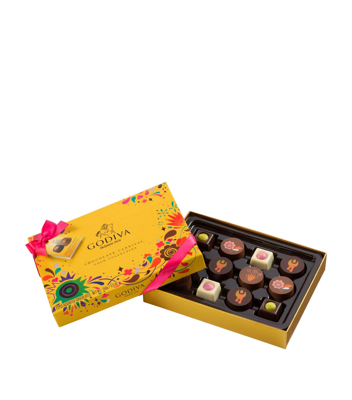 12 Piece Carnival Gold Chocolate Box 155g Chocolate Box