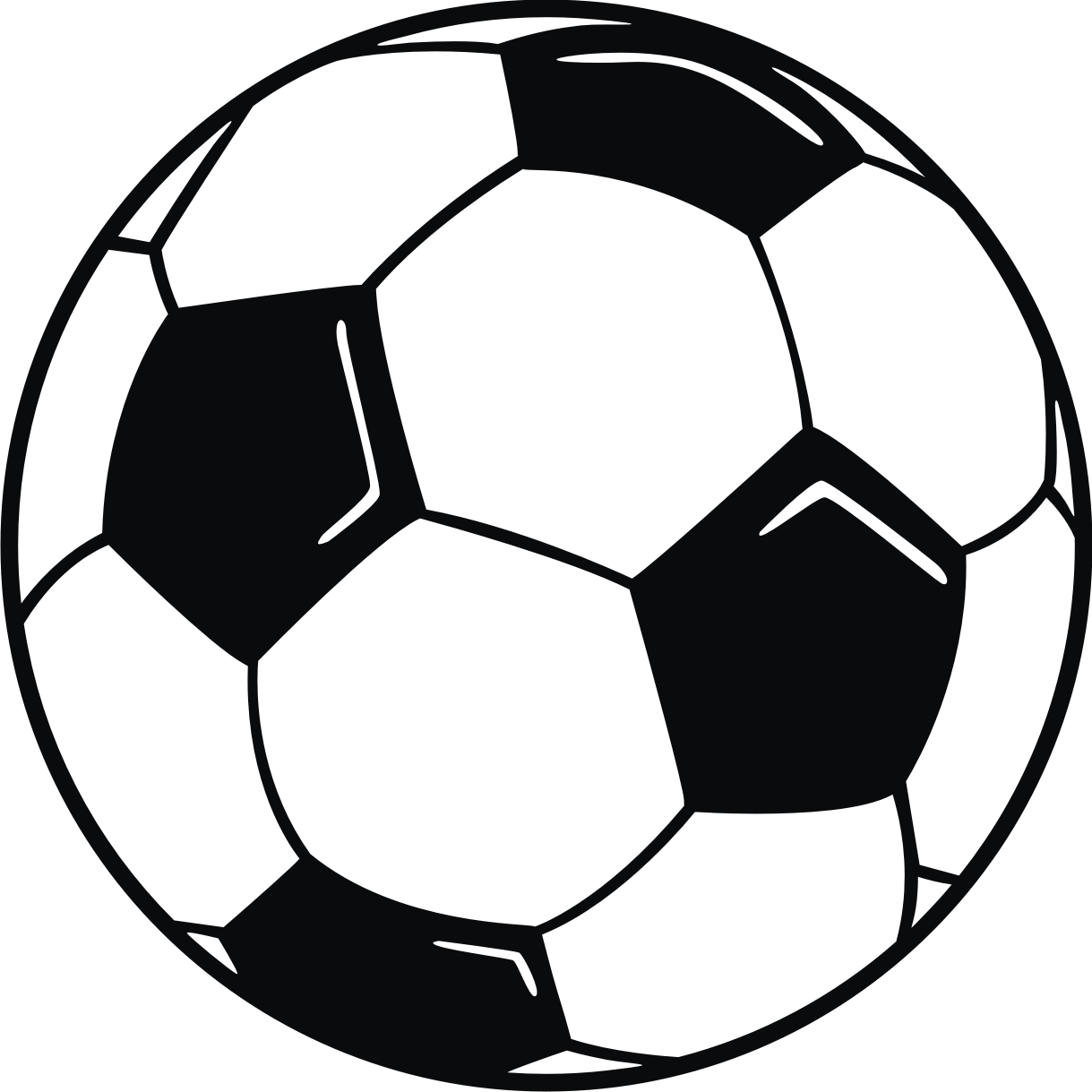 clip art soccer ball with hi lights graphic design pinterest rh pinterest com clipart images of sports balls clip art black and white sports balls