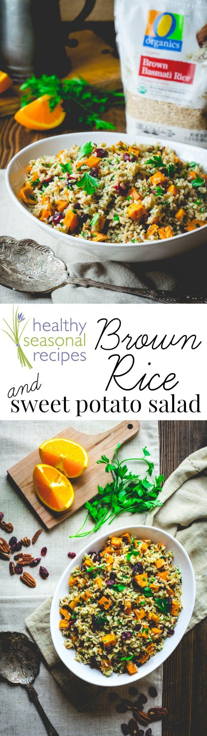 Brown rice and sweet potato salad   Recipe   Salad with ...