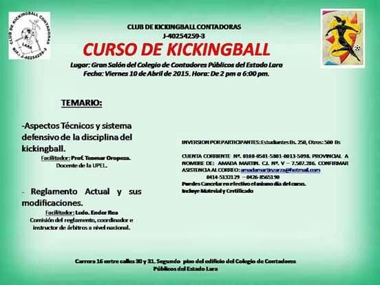 Curso de kickingball