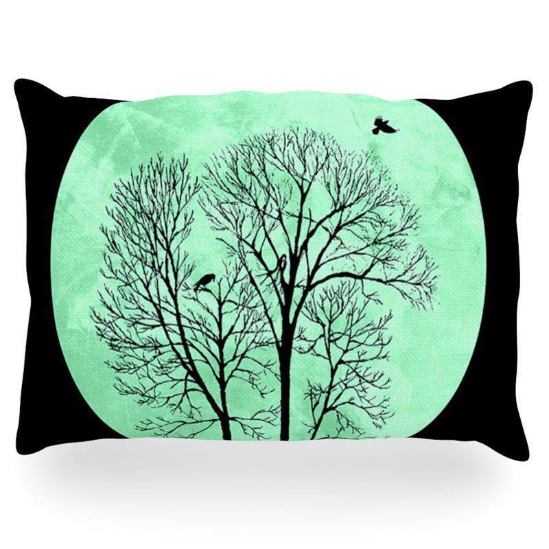 Kess InHouse Micah Sager Perch Teal Circle Outdoor Throw Pillow - MS3003AOP0