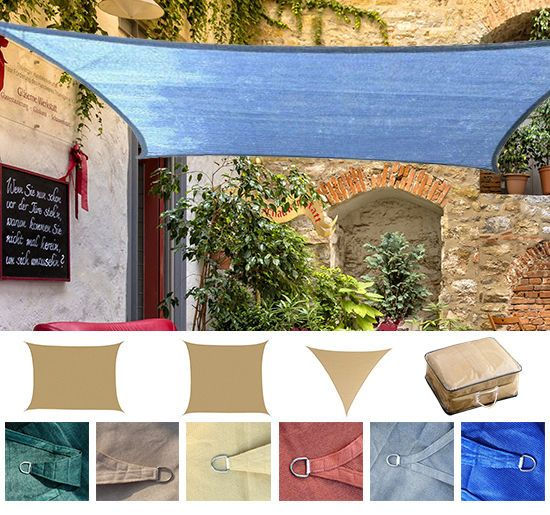 sun shade sail uv top cover outdoor canopy patio triangle square rh pinterest com