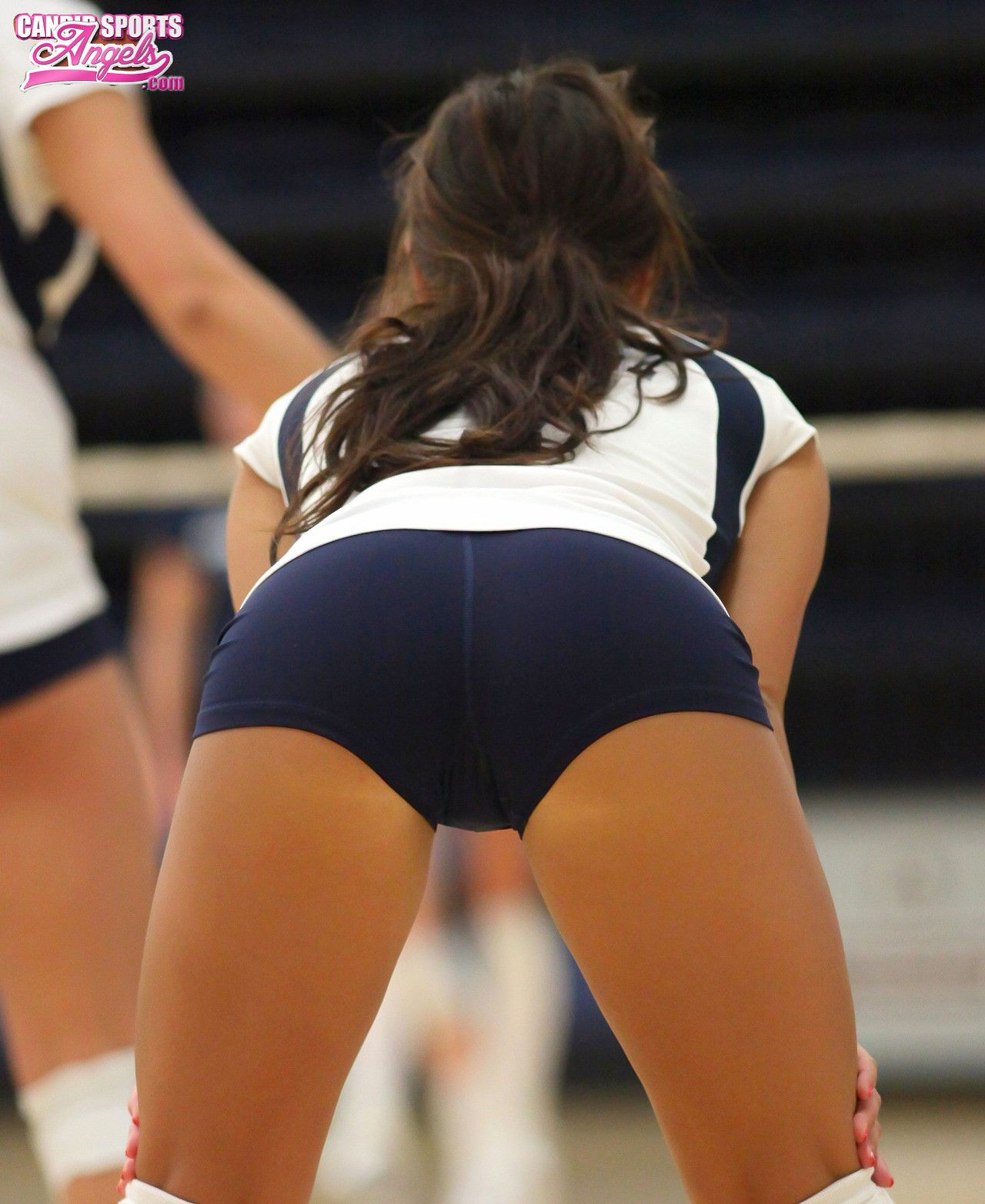 Sexy girl in volleyball shorts