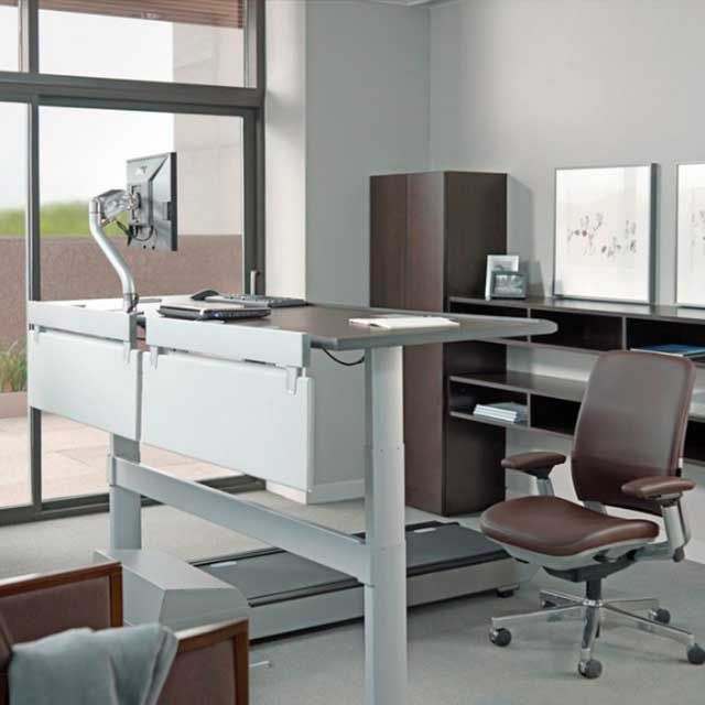 Sit-to-walkstation Treadmill Desk by Steelcase Store | Treadmill desk, Desk, Classy desk