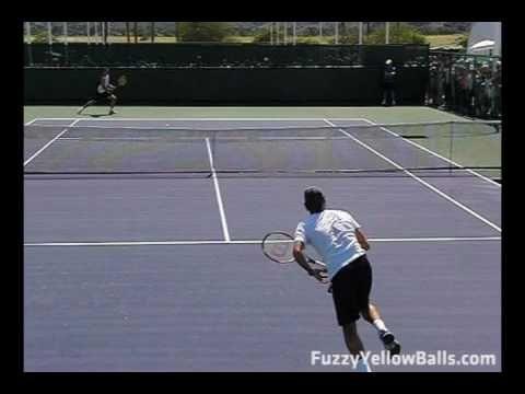 Roger Federer Serving From The Back Perspective Http Sports Onwired Biz Tennis Roger Federer Serving From The B Tennis Serve Tennis Roger Federer