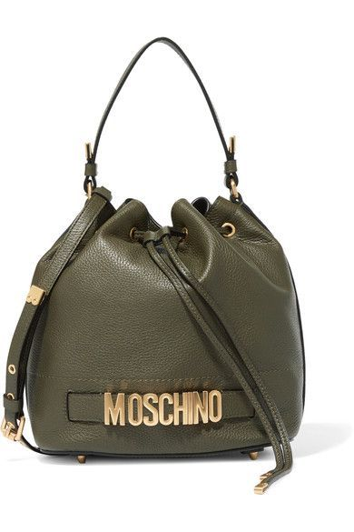 ee46552b29 Moschino - Textured-leather bucket bag | Products | Sac Seau, Sac, Seau