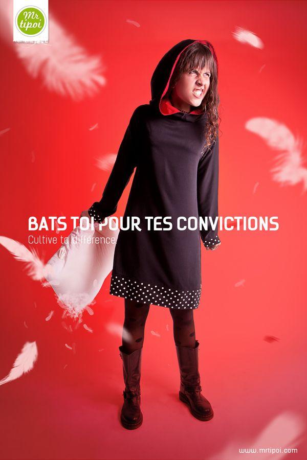 Robe Walt à Capuche  Bats toi pour tes convictions !   Cultive ta différence sur www.mrtipoi.com