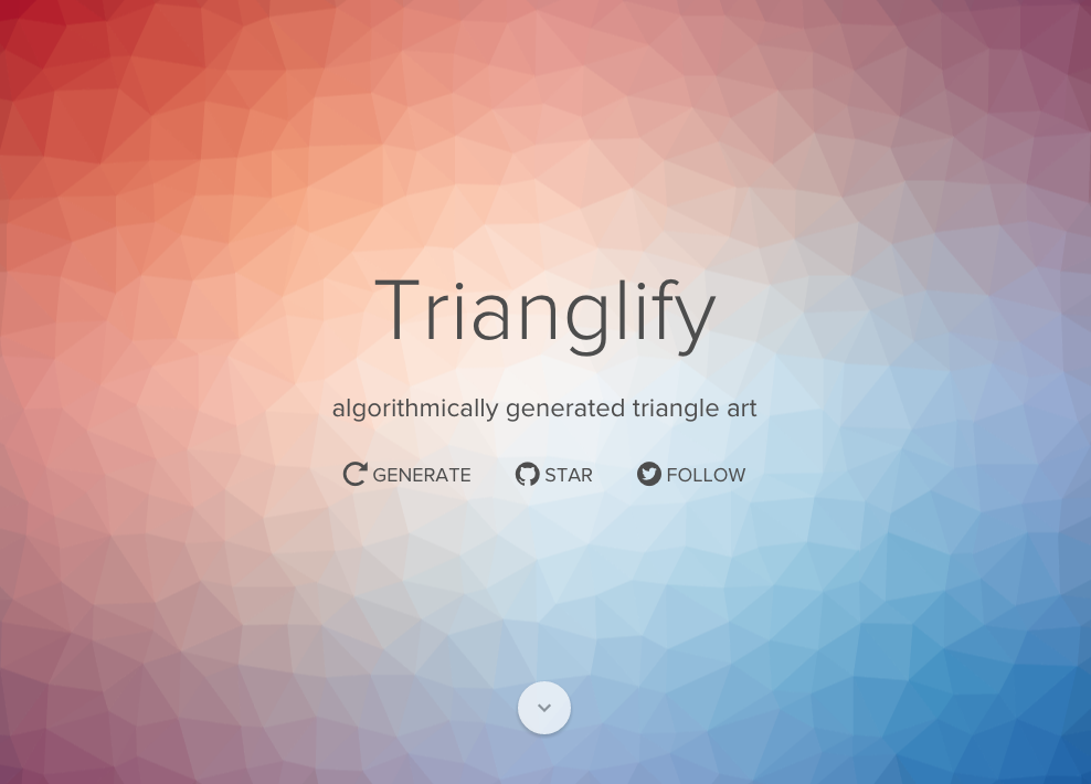 trianglify algorithmically generated triangle art generator trianglify algorithmically generated triangle art css pinterest art triangles and